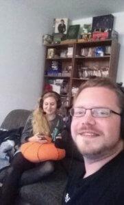 Anna und Dawit während der Aufnahme
