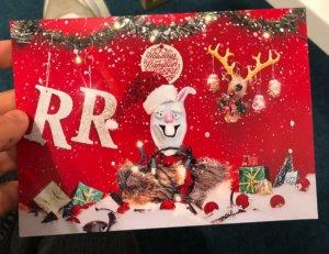 Ramblin' Rabbits Weihnachtskarte 2019 Vorderseite